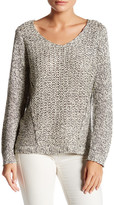 RDI V Neck Mixed Knit Sweater