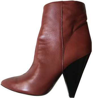 Etoile Isabel Marant Brown Leather Ankle boots
