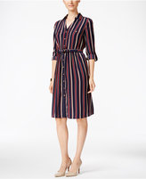 Charter Club Petite Striped Shirtdress, Only at Macy's