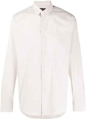 Theory check print Murray shirt