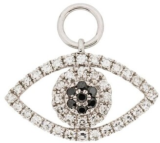 Roxanne First 14kt White Gold Diamond-Embellished Eye Charm