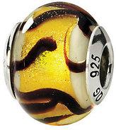 Murano Prerogatives Sterling Yellow/Black Italian Glass Bead