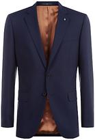 Jaeger Wool Regular Fit Travel Suit Jacket, Navy