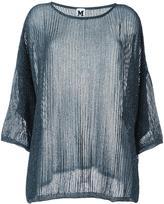 M Missoni metallic sheer sweater