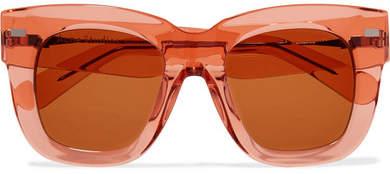 Acne Studios Library Square-frame Acetate Sunglasses - Orange