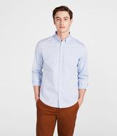 Long Sleeve Flower Print Woven Oxford Shirt