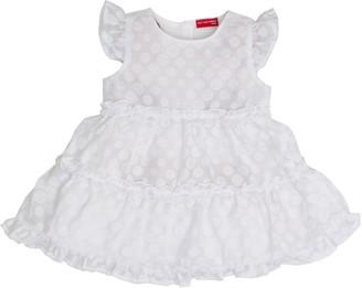 Salt&Pepper Salt and Pepper Baby Girls' B Dress wei mit Punkten