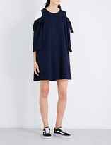 Izzue Cold-shoulder stretch-cotton dress