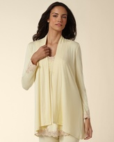 Soma Intimates Embraceable Cool Nights Collection Yellow Cream Sleep Wrap