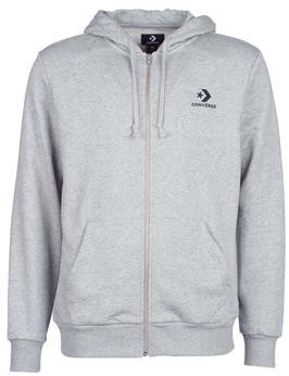 Converse STAR CHEVRON EMB FZ HOODIE men's Sweatshirt in Grey