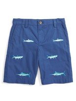 Vineyard Vines Boy's Anglers Fish Embroidered Shorts