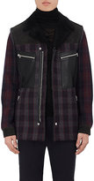 Lanvin MEN'S CHECKED WOOL-BLEND FELT COAT