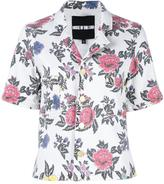 House of Holland roses print shortsleeved shirt - women - Cotton/Spandex/Elastane - 8