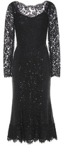 Dolce & Gabbana Embellished Lace And Mesh Gown