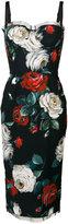 Dolce & Gabbana floral print bustier dress