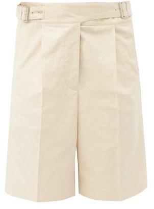 Acne Studios Riley Pleated Cotton-blend Canvas Shorts - Cream