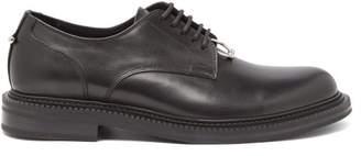 Neil Barrett Pierced Punk Leather Derby Shoes - Mens - Black