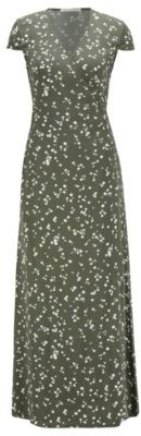 HUGO BOSS Printed Maxi Dress With Wrap Front - Patterned