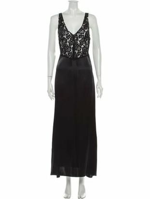 Reformation Silk Long Dress w/ Tags Black