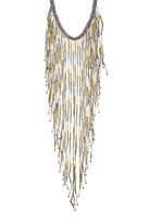 Stephan & Co Bugle Bead Exaggerated Fringe Necklace