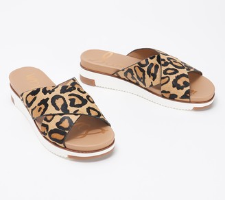 Sam Edelman Haircalf Cross Strap Slide Sandals - Audrea
