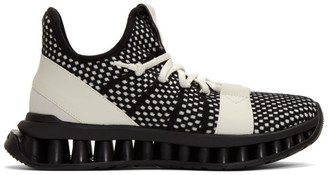 Ermenegildo Zegna Black and White TechMerino A-Maze Sneakers