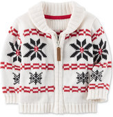 Carter's Full-Zip Cotton Snowflake Sweater, Baby Boys (0-24 months)