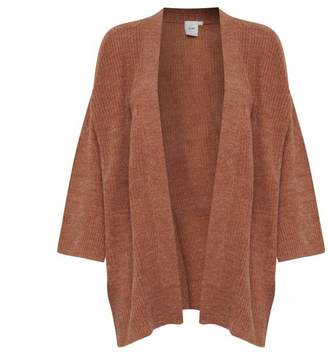 Ichi Lovely long rust coloured cardigan - XS/S