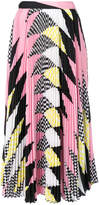 MSGM printed pleated midi skirt