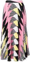 MSGM printed pleated midi skirt