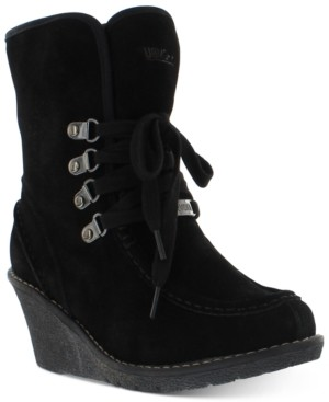 Khombu Women's Sasha Lace-Up Cold-Weather Moon Boots Women's Shoes