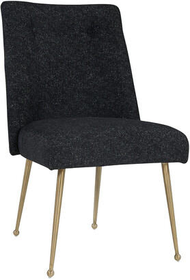 TOV Furniture Batik Black Textured Linen Dining Chair