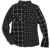 Blank NYC Girl's Windowpane Shirt