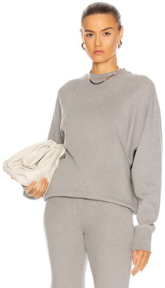 Marissa Webb So Uptight Drop Raglan French Terry Sweatshirt in Heather Grey | FWRD