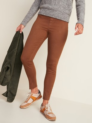 Old Navy Mid-Rise Rockstar Super Skinny Pop-Color Cut-Off Jeggings for Women
