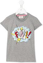 Fendi exploding logo print T-shirt - kids - Cotton/Spandex/Elastane - 4 yrs