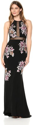 Xscape Evenings Women's Long Embroidered Dress