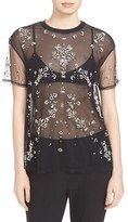 Women's Cinq A Sept Kebede Beaded Mesh Top