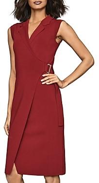 Reiss Gabrielle Belted Wrap Dress