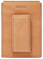 Fossil Men's Ford Leather Money Clip Card Case - Brown