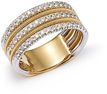 Marco Bicego Diamond Multi-Row Band Ring in 18K White & Yellow Gold, 0.38 ct. t.w. - 100% Exclusive