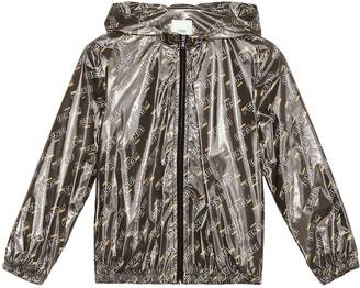 Fendi Kids FENDI MANIA printed raincoat