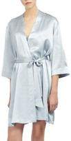 Ginia Silk Wrap Gown