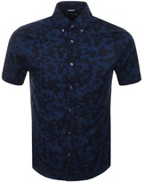 Michael Kors Short Sleeve Camouflage Shirt Navy