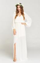 MUMU Jocelyn Maxi Dress ~ Wedding Cake Chiffon