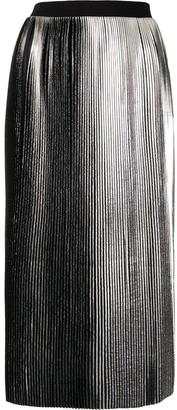 agnès b. Metallic Pleated Skirts