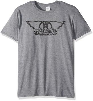 American Classics Unisex-Adults Aersomith Black Logo Short Sleeve T-Shirt
