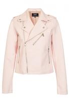 Quiz Pink PU Biker Jacket