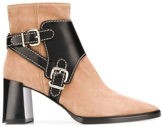 Tod's leather buckle strap boots