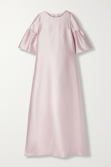 Thumbnail for your product : Reem Acra Satin-pique Gown - Blush